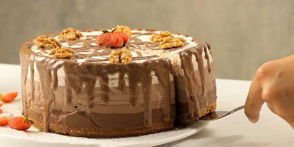 طرز تهیه رنگین کمان شکلاتی پاناکوتا