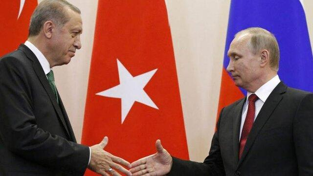 گفتگوی تلفنی اردوغان و پوتین بر سر سوریه