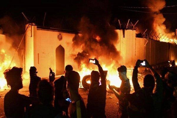 عراق تعرض به کنسولگری ایران در نجف را محکوم کرد