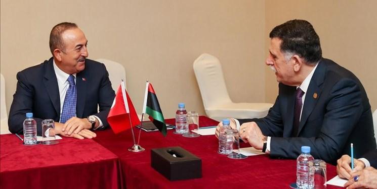 ملاقات وزیر خارجه ترکیه با رئیس دولت وفاق ملی لیبی