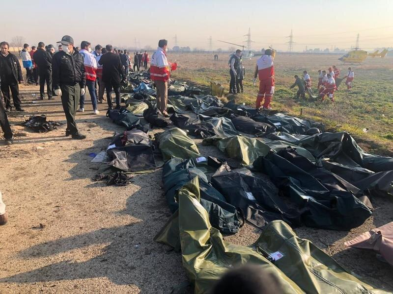 خاتمه نمونه گیری از اجساد سقوط هواپیما ، اعلام شماره تماس برای کسب اطلاع خانواده ها ، شرایط خارجی ها