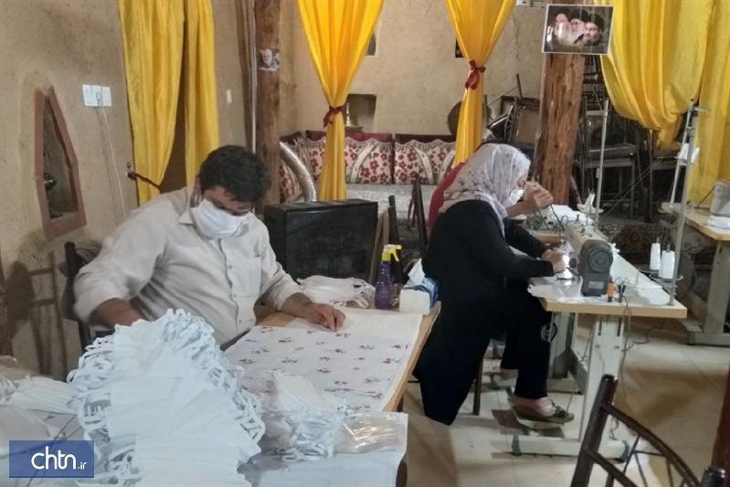 تولید ماسک بهداشتی در اقامتگاه بوم گردی جاجرم