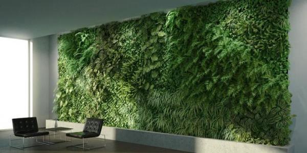 طراحی دیوار سبز، یک باغچه عمودی تمام و کمال!