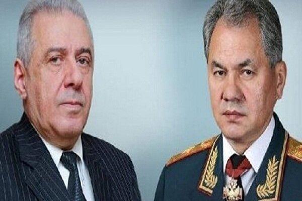 وزرای دفاع روسیه و ارمنستان تلفنی تبادل نظر کردند