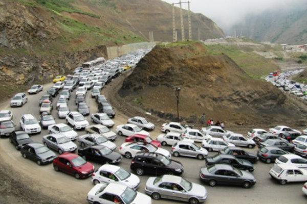 ترافیک سنگین در محور چالوس و هراز خبرنگاران