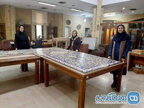 کاشی نگاره کاخ موزه گلستان نمونه سازی شد